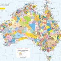 Aboriginal languages map Australian History