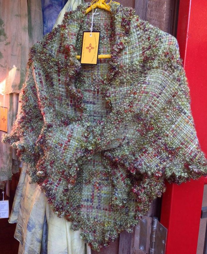"""""""Triangle Loom"""" shawl/wrap -- They don't always have to be woven with fringe!"""