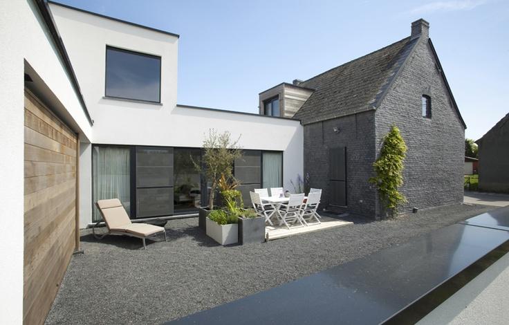 Grijze kalei in combinatie met pleister home decor pinterest met - Voor na gerenoveerd huis ...