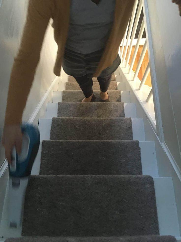 Reforma de Escadas de Madeira com Dash e Albert de Annie Selke   – Shore house