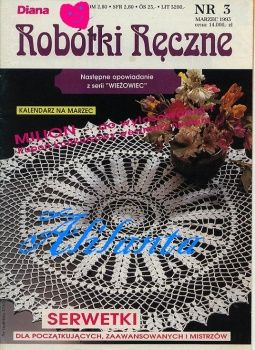 MAGAZINE: Crochet magazine, nice combination of filet and doily work ♥LCB-MRS♥ with diagrams.