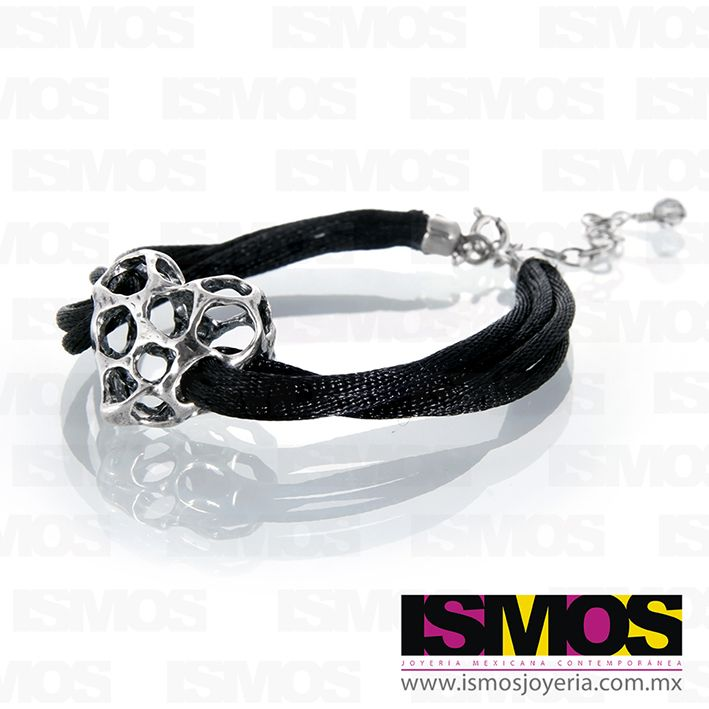 ISMOS Joyería: pulsera con corazón de plata // ISMOS Jewelry: silver heart bracelet