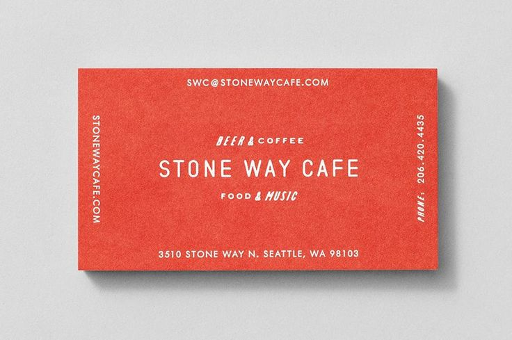Business card for Seattle cafe and music venue Stone Way Cafe by Shore