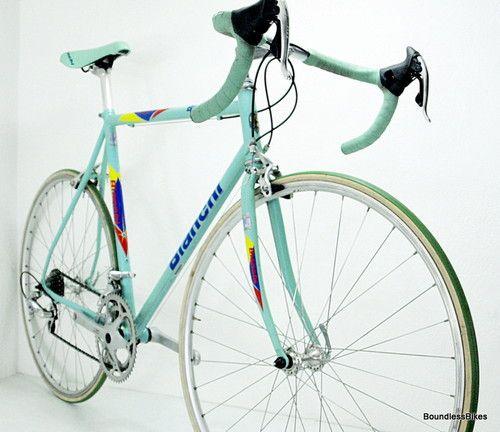 Bianchi Racing Sprint Campagnolo Rare Vintage Road Bike Celeste pantographed