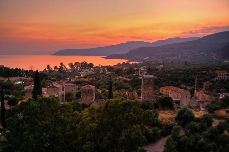 Beautiful Kardamyli in Peloponnese ( Mani Region), Greece. My Grandfateher's village