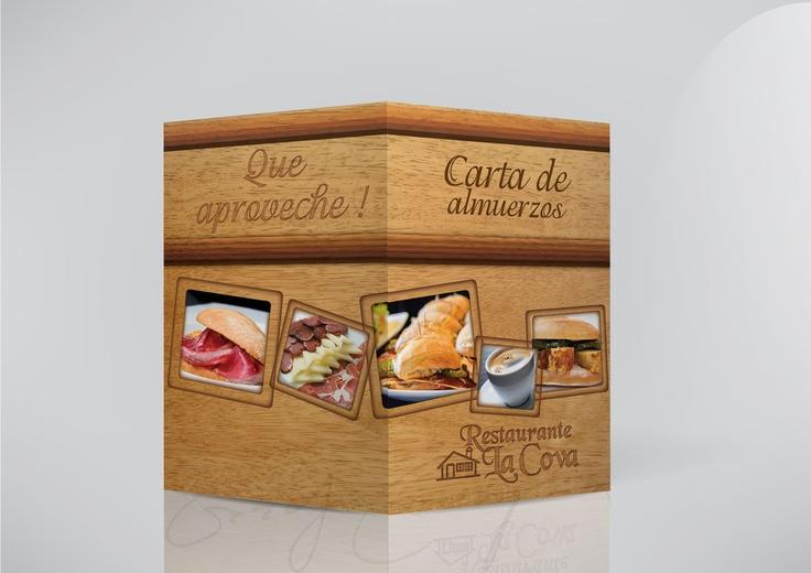 Menu Design for Restaurant/ Diseño Carta de Almuerzo Restaurant La Cova