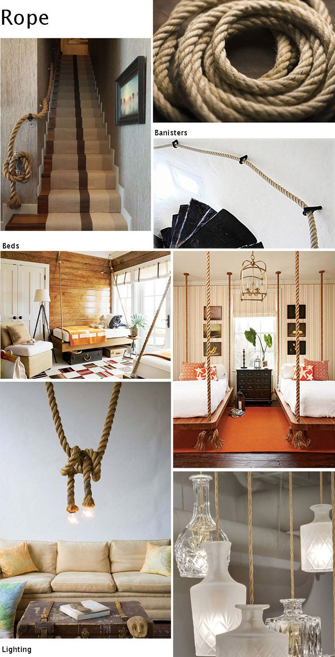 20 Rustic Interior Decorations With Ropes And