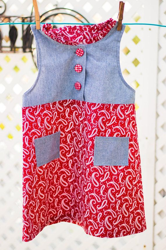 Cotton Jumper/Dress Size 3 Yrs Hand Sewn