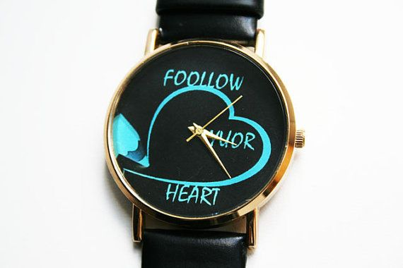 women's Watch Leather Watch Gift ideas for her by SovietCrimea