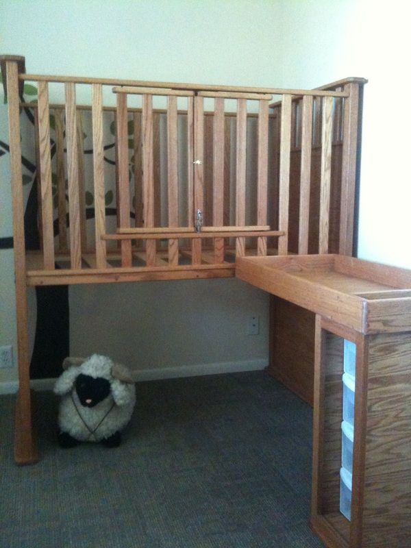Wheelchair Accessible Crib and Changing Table