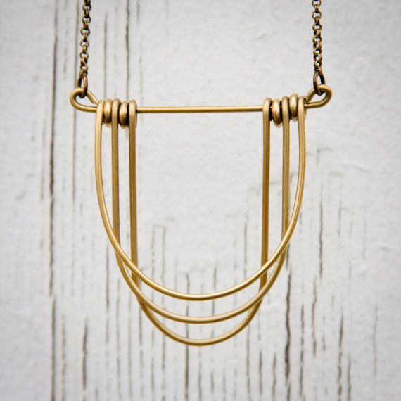 Draped Brass Necklace