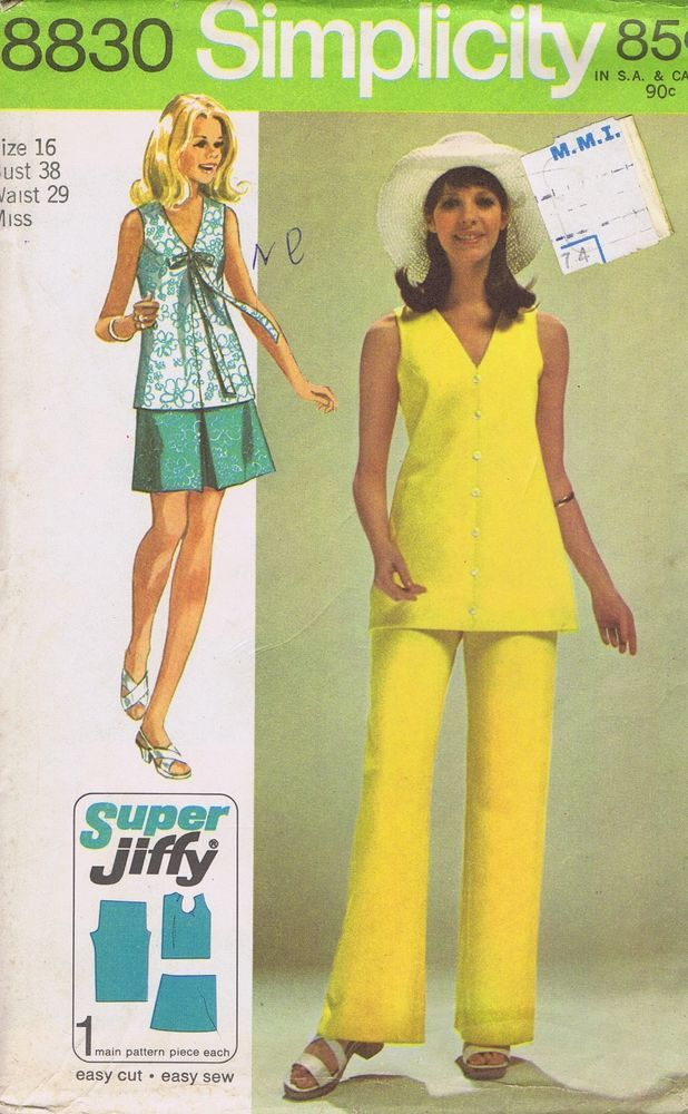 Tunic Pants Sewing Pattern Simplicity 8830 SIZE 16 BUST 38