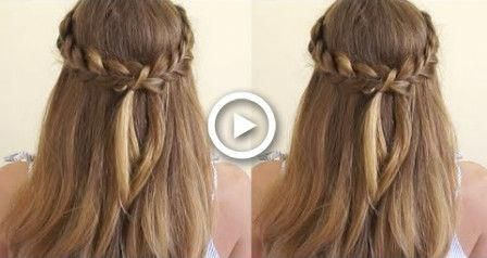 Crown Braid Half Up Half Down  Crown Braid Tutorial #hair #braids #promhairupdo