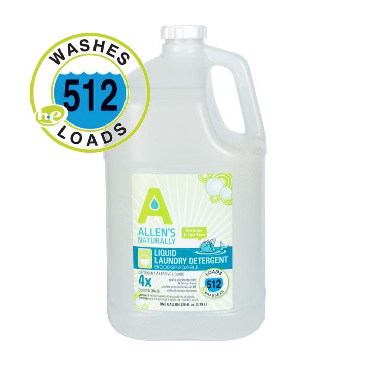 Natural Liquid Laundry Cloth Diaper Detergent 1 Gallon
