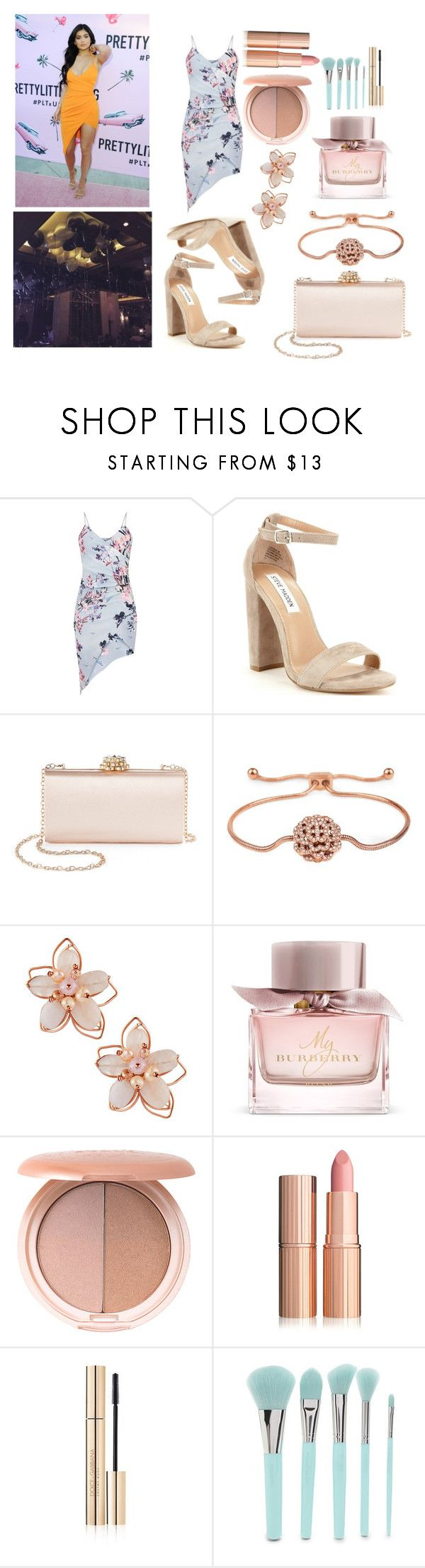 """""""LA: Arriving to the party w. Kylie Jenner"""" by selin-richie ❤ liked on Polyvore featuring Steve Madden, La Regale, Folli Follie, NAKAMOL, Burberry, Stila, Dolce&Gabbana and Forever 21"""