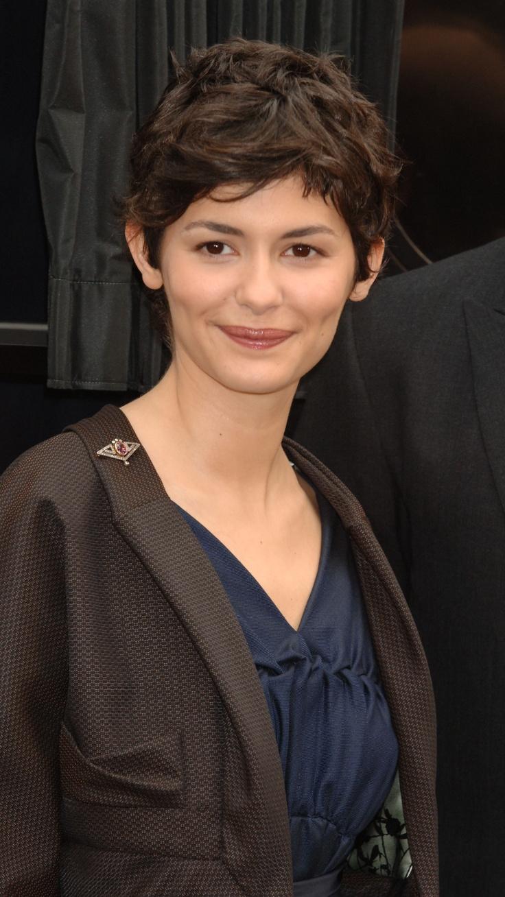 Audrey Tautou Thick Hair Pixie Short Hair Styles Short