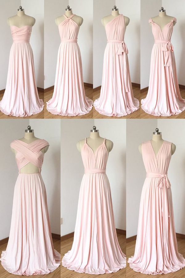 Blush Pink Bridesmaid Dresses - Wrap Bridesmaid Dress - Different Bridesmaids  Dresses - Pink Wedding - Infinity Dress - Blush Pink Spandex Long  Convertible ... d61e63f722ca
