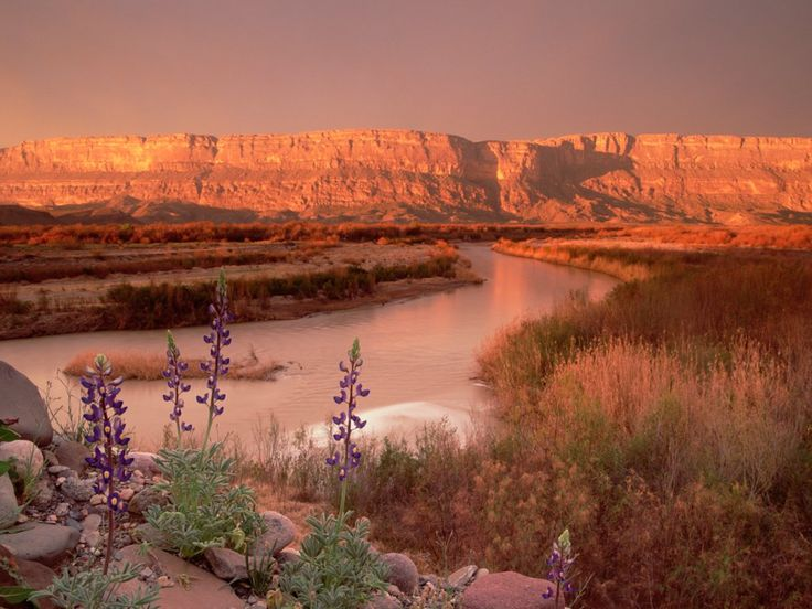 Sierra Ponce and Rio Grande, Big Bend National Park, Texas