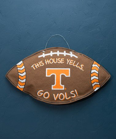 Loving this Tennessee Volunteers Football Burlap Wall Sign on #zulily! #zulilyfinds