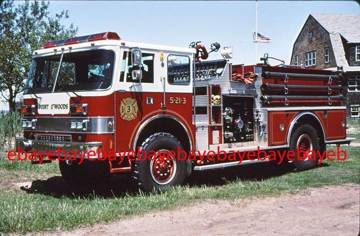 Fire Apparatus Slide, Engine 5-21-3, Point O'Woods / NY, 1988 Pierce Dash 4x4