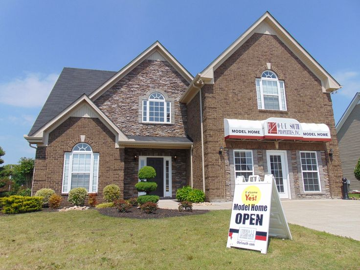 Ole South S Meadowbrook Model Home In Spring Hill Tn Plan 2484 Gorgeous Brick Amp Stacked Stone