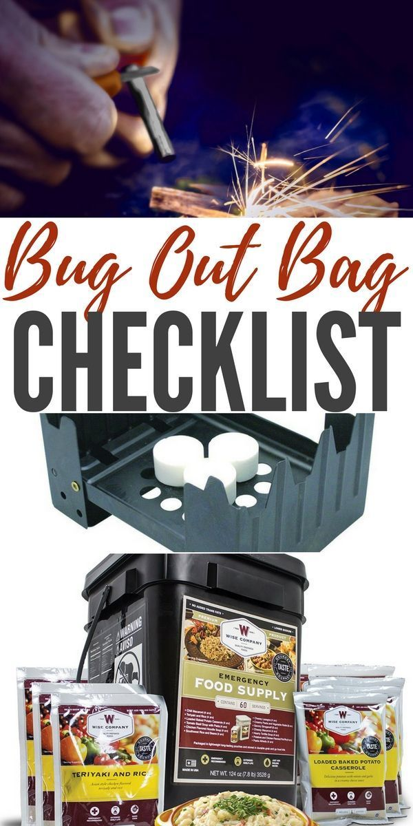 Bug Out Bag Checklist Bug Out Bag Checklist Bug Out Bag Diy Projects For Men