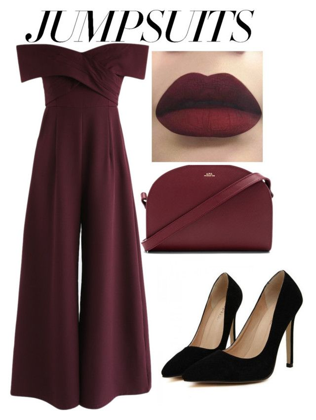 """Untitled #6"" by thepenetrator on Polyvore featuring Chicwish and A.P.C."