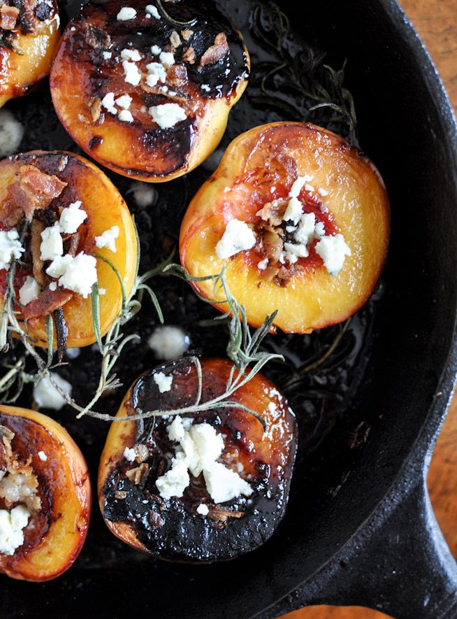 Rosemary, Bacon and Sugar Roasted Peaches / How Sweet It Is