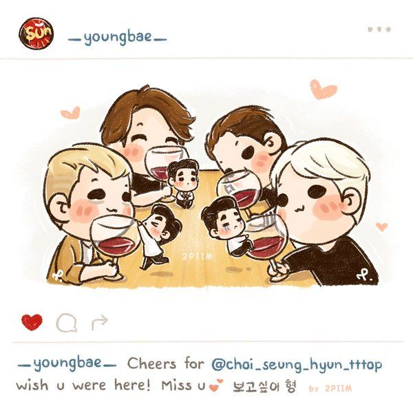 "[fanart] #BIGBANG ""wish u were here!, #TOP"""
