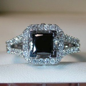 beautiful black diamond wedding ring my dream ring!!! Love black diamonds!!!
