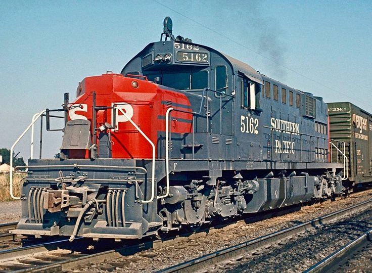 Southern Pacific Railroad Alco RSD-15 diesel locomotive in Eugene, Oregon, USA
