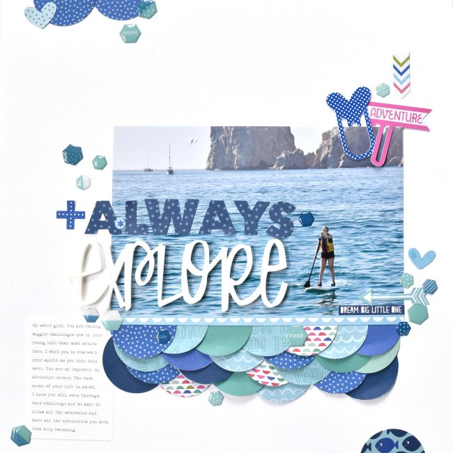 Bella Blvd | Secrets of the Sea | Layout by Amy Heller
