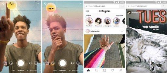 Instagram añade nuevos filtros y permite ver los Stories en la web
