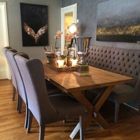 17 best images about rustin dinning room decor ideas on for Modern rustic dining room