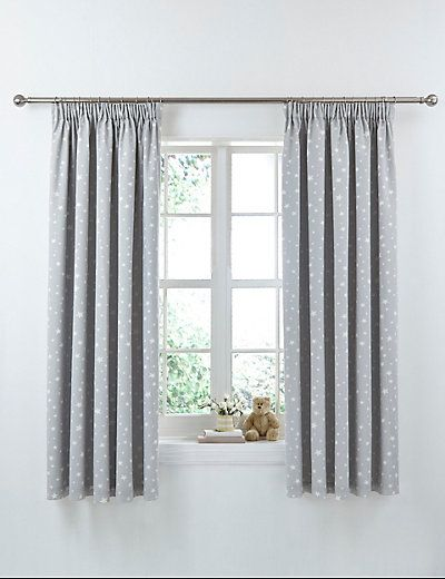 Star Print Pencil Pleat Curtains | M&S