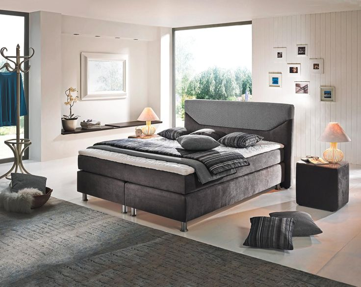 Attraktives Boxspringbett Von Bentley Collection Zeitlose Eleganz In Grau Boxspringbett Schone Schlafzimmer Bett