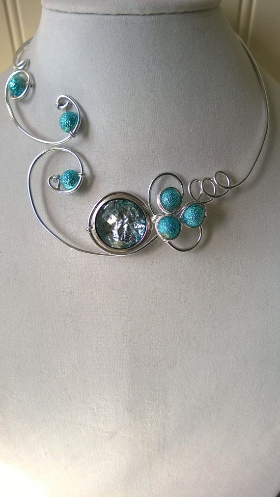 Turquoise necklace and earrings  Turquoise jewelry set   Alu