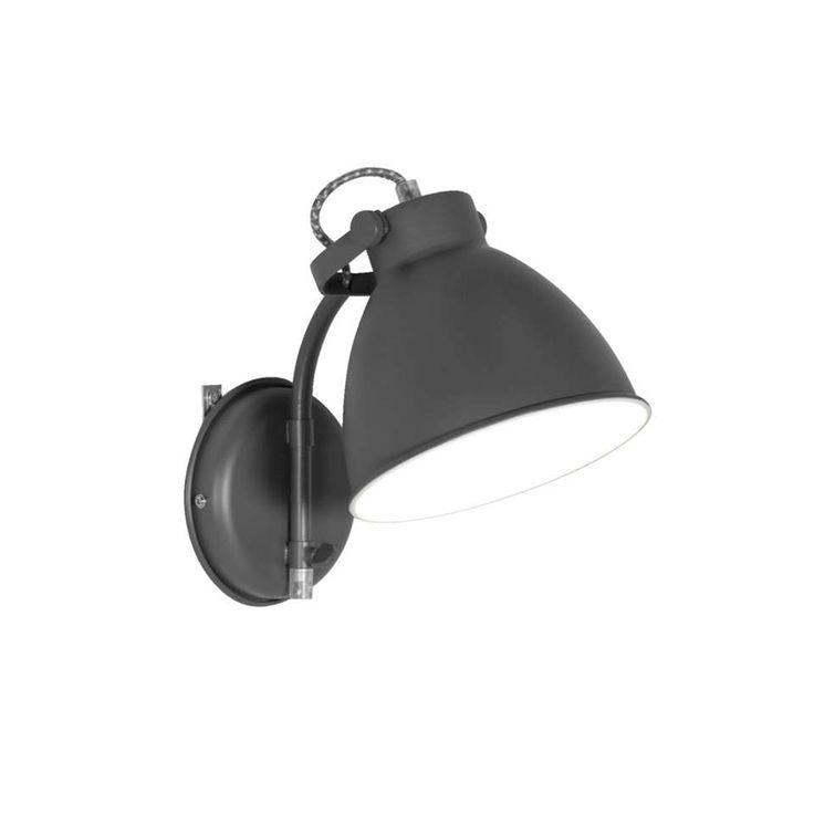 Wandlamp John - grijs | Leen Bakker