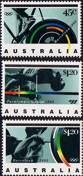 Australia 1992 Olympic and Paralympic Games Set Fine Mint SG 1358 60 Scott 1268 70 Other Australian Stamps HERE
