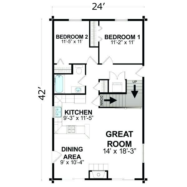 600 Sq Ft House Plans Modern With Modern House Plans Under 600 Sq Ft Elegant Square Foot Small House Floor Plans Log Home Floor Plans Small Cottage Plans