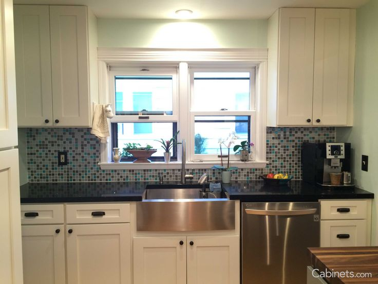 Add Color To Your Kitchen With Backsplash The Picture Features Shake Ii Maple Alabaster Cabinets