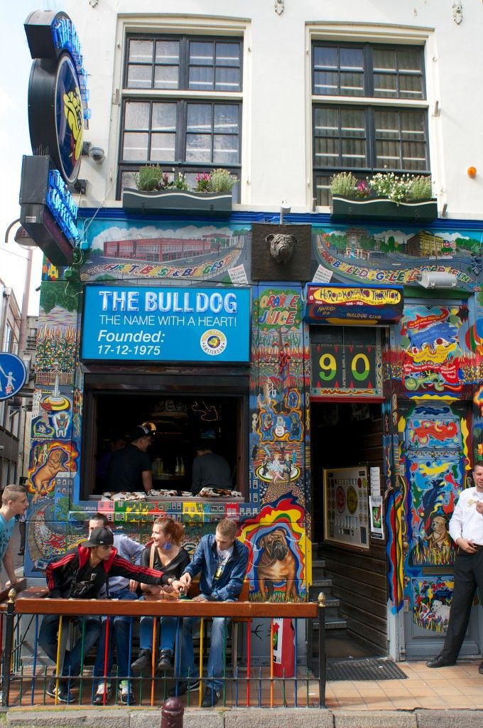 The Bulldog coffee shop - Amsterdam, Netherlands. http://matadornetwork.com/nights/seven-coffee-shops-in-amsterdam-that-are-good-to-go/