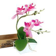 2017 Caliente Doble Tenedor Mariposa Orquídea Planta Bonsai Creativo Accesorios Para El Hogar Y Jardín Decoración de Arreglos Florales En venta