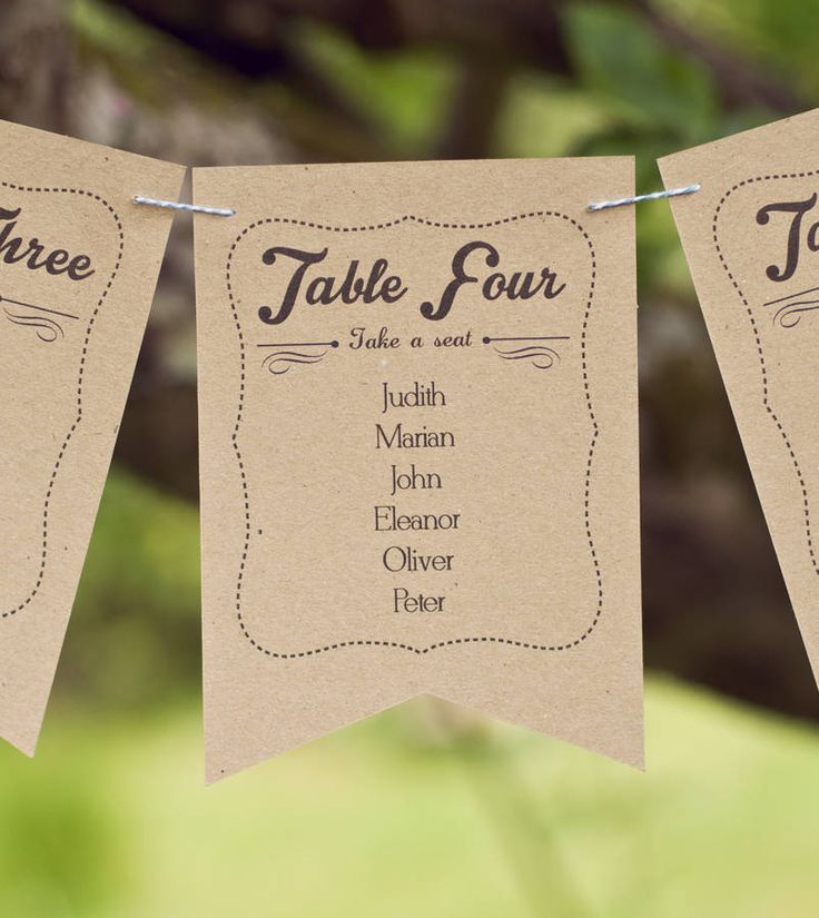frame design wedding table plan bunting by peach wolfe paper co. | notonthehighstreet.com