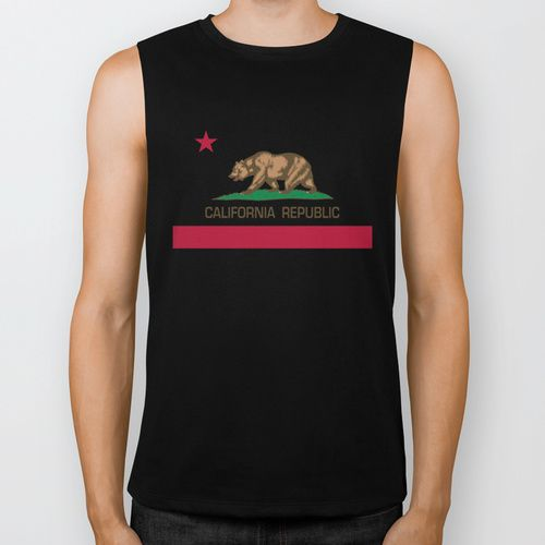California Republic state flag - Authentic Version Biker Tank by LonestarDesigns2020 - Flags Designs +   Society6