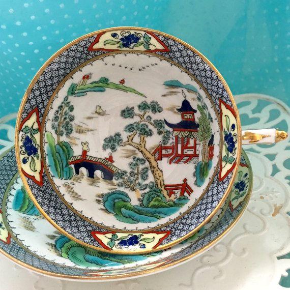 Vintage Paragon Tea Cup, 1940's Tea Cup Set, Antique China Teacups, English…