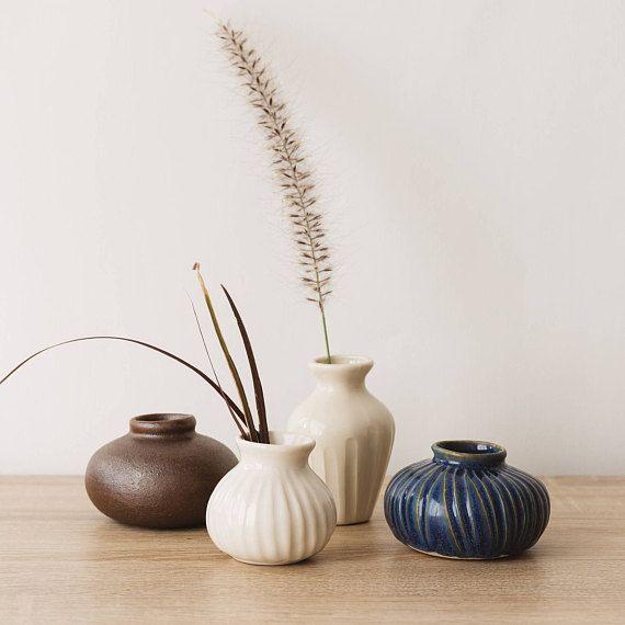 Bud Vase Geometric Planter Rustic Bud Vase Minimalist Bud. Photo: Sabino Aguad / Henriette de Visscher