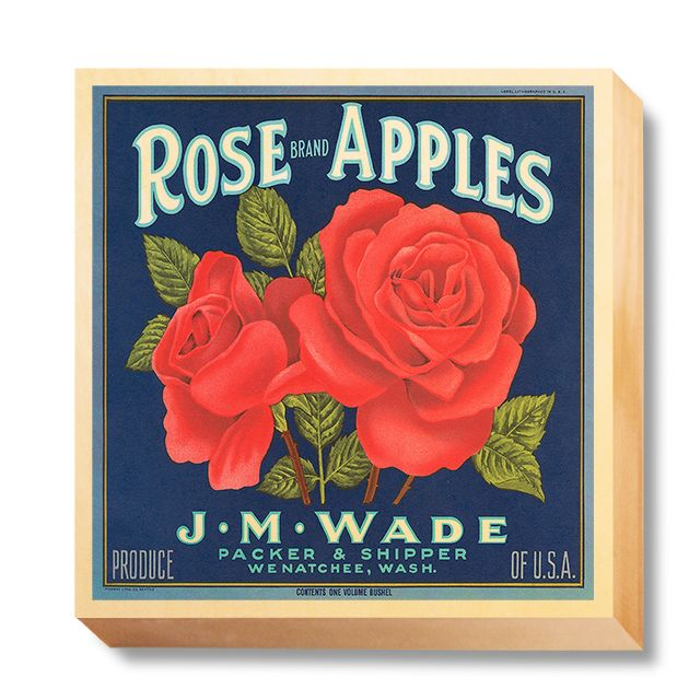 LAB 055 Crate Label Rose Apples