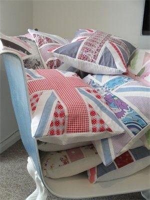 Custom Made Union Jack Cushion by MollyMooJessicatoo on Etsy, £35.00