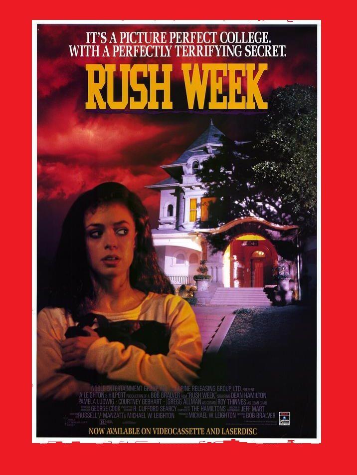 """RUSH WEEK"", an early mumblecore, 1990, from those distributors of Hostage & LA Bounty, stars Pamela Ludwig (Pale Blood) and Gregg Allman (as Cosmo), Italian (EU, PAL)  name was ""Beverly Hills delitti al college"" #afbeeldingen #mumblecore #indie #arthouse #jääkiekko #jäähoki #Liiga #elokuvat #Helloween #erotisch #Melancholia #Nostalgie #art #theatre #EU27 #Brexit #kunst #Erasmus #Trier #veri #Birkin #Jessicka #Addams #Doillon #Macron #PAL #VHS #NVPI #Nederlands #Puolanka #Trump #WTCC"